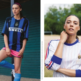 Season Fever Pitch (Photography, Claire Pepper, Stylist Rickardo Mattocks-Maxwell, Make-up and Hair Polly Mann, Stylist Assistant Sophia Dwyer, Model Mecia @ Milk Management)
